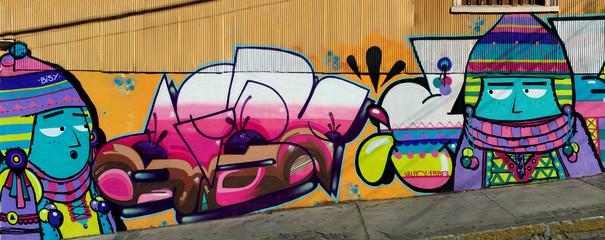 wall in Valparaiso