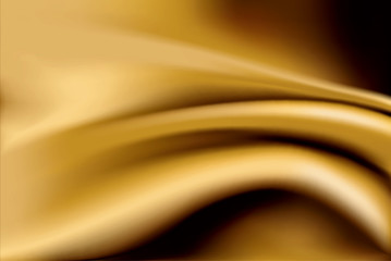 Vector of gold silk fabric