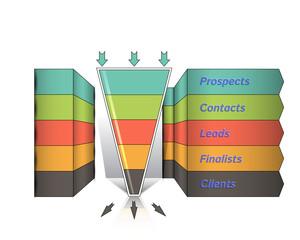 Sales funnel infografics, vector graphics/