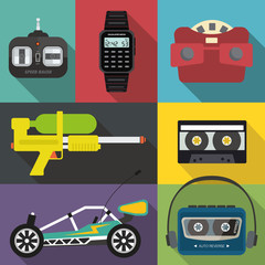 A set of eighties and nineties items