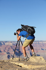 Nature landscape photographer in Grand Canyon