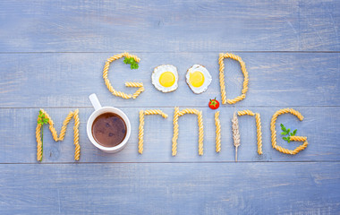 """""""Good morning"""" text by products"""