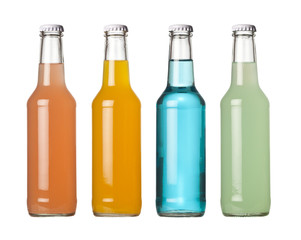 Colorful bottled drinks