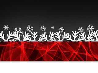 Winter delightful snowfall background