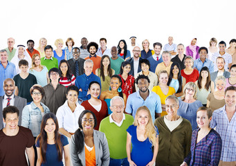 Large group of Multiethnic people