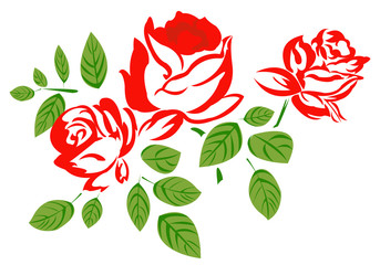 Roses.Holidays background.Vector