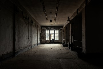 Dark and abandoned place Wall mural