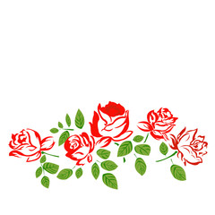 Flowers Roses.Vector