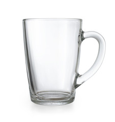 Glass cup isolated with clipping path included