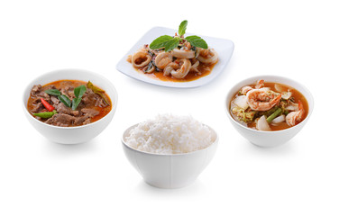 Thai food with rice