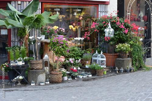 devanture d 39 un magasin de fleurs photo libre de droits sur la banque d 39 images. Black Bedroom Furniture Sets. Home Design Ideas