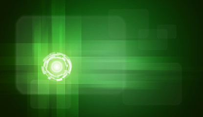 Glow circles on green gradient background