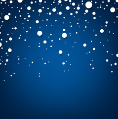Snow blue abstract background.