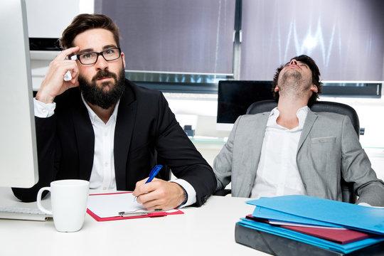 gestresste Mitarbeiter
