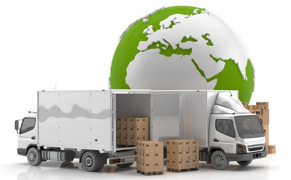 Manufacturing in Europe. Made in Europe. Transportation