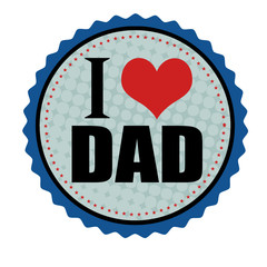 I love dad sticker or stamp