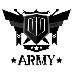Abstract army emblem design