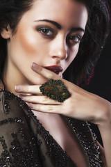 Portrait of beautiful brunette woma Fashion photo