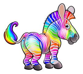 Cartoon Rainbow Zebra