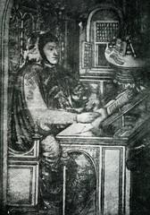Petrarch,  Italian scholar and poet (miniature ca. 1400)