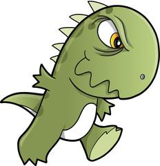 Tough Mean Dinosaur Vector Illustration Art