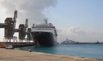 Cruise liner in port. Bridgetown, Barbados