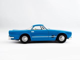 Classic Retro Blue Sports Coupe