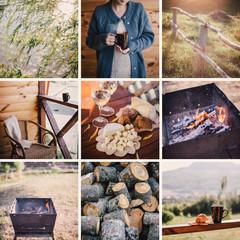 collage of nine photos autumn theme