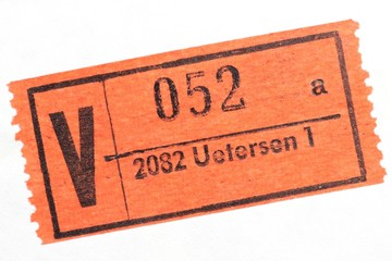 alte Marke für Wertbriefe