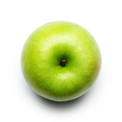 Granny Smith Apple on White