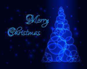Glow Blue Christmas Tree
