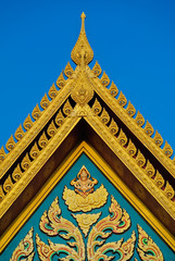 Temple roof the gables.
