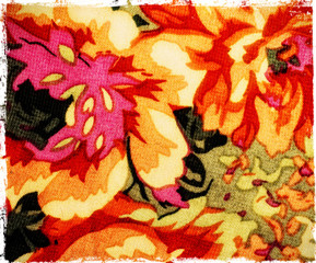 piece of textile fabric in vintage style