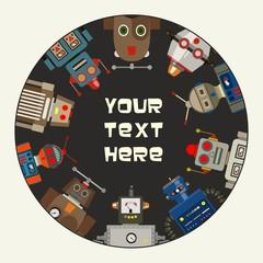 Retro Toy Robots Promotional Frame