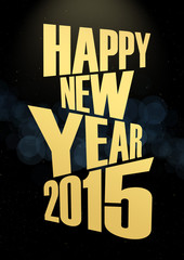 New Year 2015 Text lights effect