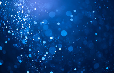 blue bokeh lights background