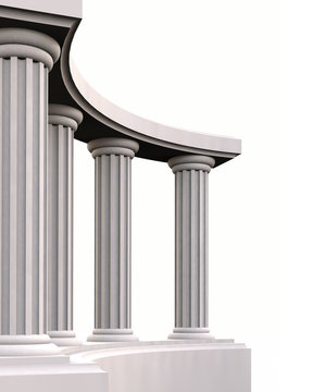 3D ancient column curve
