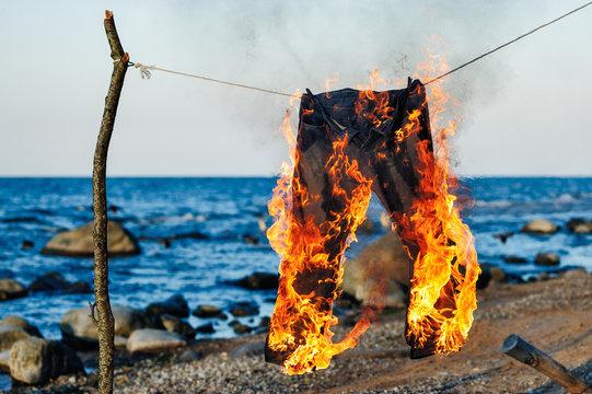 Jeans burning
