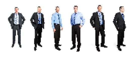 pixel art business man