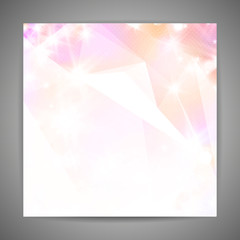 Abstract 3D geometric pink background.