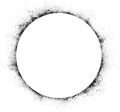 Circle ink blots background