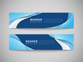 smooth curve lines background advertising banner