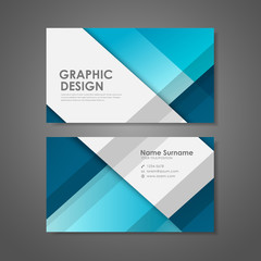 creative business card template in blue