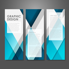 creative advertising banner template in blue