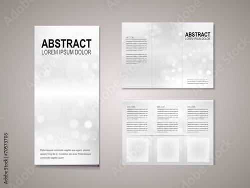 sparkling background tri fold brochure template