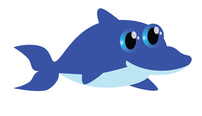 Blue dolphin cartoon
