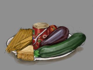 Italian Food - digital painting