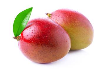 Ripe mango isolated on white.