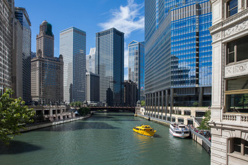 Fotobehang Chicago Chicago River View