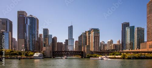 Canvas Prints Chicago Skyline Panorama